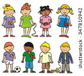 group of children  vector icon | Shutterstock .eps vector #347810942