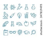 vector outline icons set and...