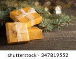 luxury new year gifts ... | Shutterstock . vector #347819552