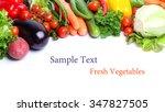 fresh vegetables isolated white ... | Shutterstock . vector #347827505