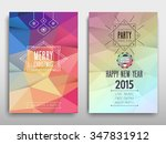 colorful merry christmas flyer. ... | Shutterstock .eps vector #347831912