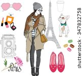 fashion paris style collection  ... | Shutterstock .eps vector #347832758
