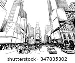 city hand drawn unique... | Shutterstock .eps vector #347835302