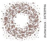 vector  floral background. hand ... | Shutterstock .eps vector #347839946