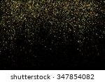 vector gold glitter texture on... | Shutterstock .eps vector #347854082
