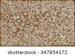 arabesque lines waves  | Shutterstock .eps vector #347854172