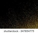 vector gold glitter dust... | Shutterstock .eps vector #347854775