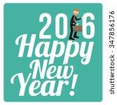 happy new year illustration... | Shutterstock .eps vector #347856176