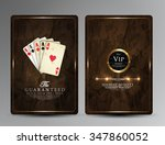 vintage casino collection... | Shutterstock .eps vector #347860052