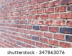 Fragment Of Brown Brick Wall...