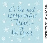 winter inspirational quote for... | Shutterstock .eps vector #347865536