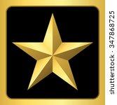 gold star icon. pentagonal sign ... | Shutterstock .eps vector #347868725