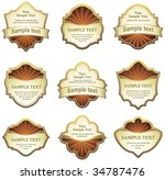 set of design elements | Shutterstock .eps vector #34787476