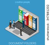 computer document archive... | Shutterstock .eps vector #347881202