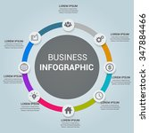 modern business infographics... | Shutterstock .eps vector #347884466