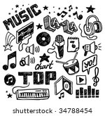 hand drawn musical icons.... | Shutterstock .eps vector #34788454