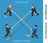 business competition tie flat... | Shutterstock .eps vector #347886266