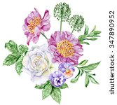 beautiful bouquet with white...   Shutterstock . vector #347890952
