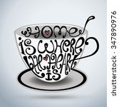 isolated icon of cup made from... | Shutterstock .eps vector #347890976