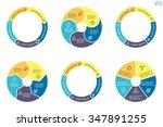 circular diagrams. flat charts  ... | Shutterstock .eps vector #347891255