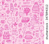 happy birthday pattern   Shutterstock .eps vector #347894312