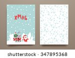 merry christmas set of card... | Shutterstock .eps vector #347895368