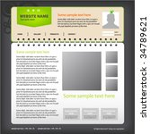 web site design template ... | Shutterstock .eps vector #34789621