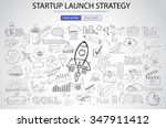 strartup launch strategy... | Shutterstock .eps vector #347911412
