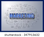 business success and marketing... | Shutterstock .eps vector #347913632