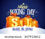 happy boxing day sale design...   Shutterstock .eps vector #347913812
