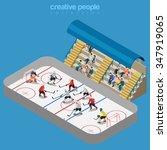ice hockey arena stadium...   Shutterstock .eps vector #347919065
