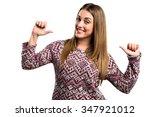 woman proud of herself  | Shutterstock . vector #347921012