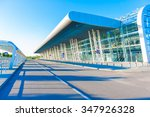 airport terminal outside ... | Shutterstock . vector #347926328