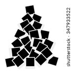 photo cards christmas tree.... | Shutterstock .eps vector #347933522