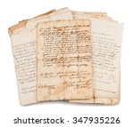 old manuscripts isolated on... | Shutterstock . vector #347935226