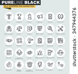 set of thin line web icons of... | Shutterstock .eps vector #347944376