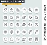 set of thin line web icons of...   Shutterstock .eps vector #347944505