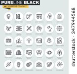 set of thin line web icons of... | Shutterstock .eps vector #347944568