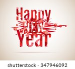 mosaic happy new year greeting... | Shutterstock .eps vector #347946092