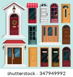 set of detailed colorful front...   Shutterstock .eps vector #347949992
