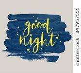 """good Night"" Poster. Vector..."