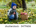 little boy posing outdoors with ... | Shutterstock . vector #3479606