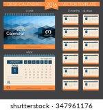 design desk calendar 2016.... | Shutterstock .eps vector #347961176