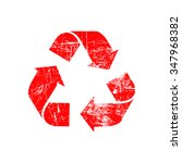 Illustration Vector Red Recycl...