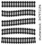 3d Railway  Railroad Track...