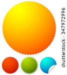 starburst shapes  badges.... | Shutterstock .eps vector #347972996