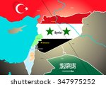 syria geopolitical map with... | Shutterstock .eps vector #347975252