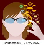 smart glasses and augmented... | Shutterstock .eps vector #347976032