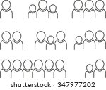 set of linear flat people | Shutterstock .eps vector #347977202