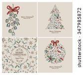 vector set  christmas cards...   Shutterstock .eps vector #347985872